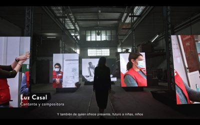 Las Pantallas Led del anuncio «Sorteo de Oro de la Cruz Roja 2020»